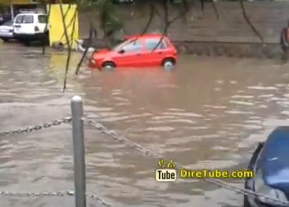 Huge Rain Causing Flood in Addis