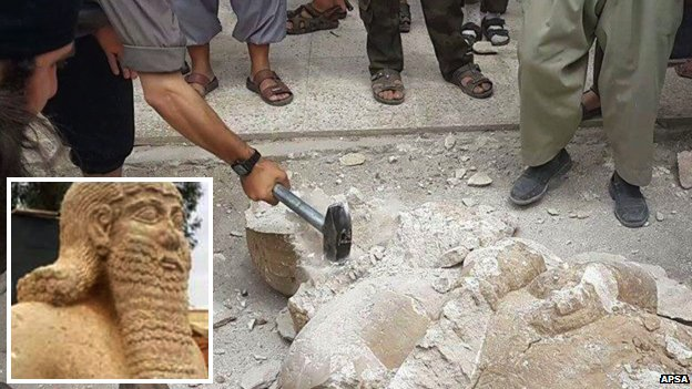 ISIS destroys historic sites in Iraq and Syria