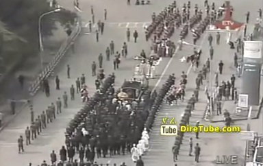 Meles Funeral - Body of PM Meles Zenawi Arriving @Meskel Square