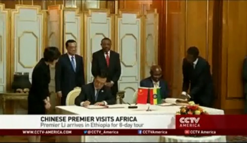 CCTV - Ethiopia: Li Keqiang visits AUC HQ in Addis Ababa