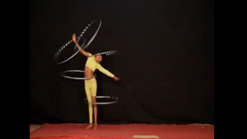 Hula Hoop Act From Zion Circus in Ethiopia