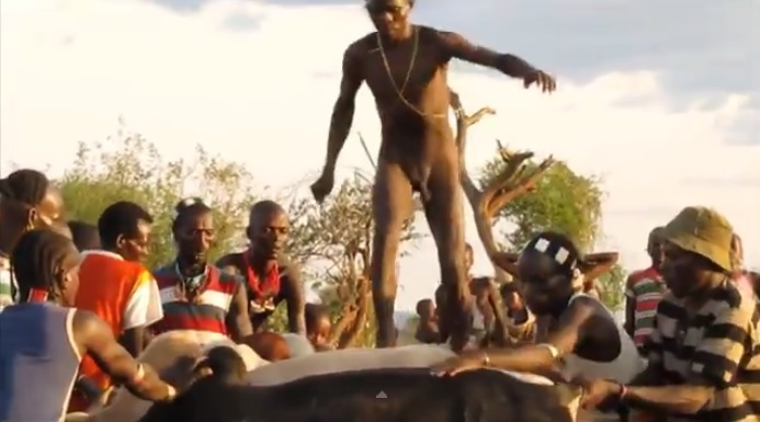 People are Awesome 2015 - Hamar Tribe Bull Jumping Ceremony