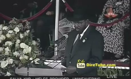 Salva Kiir Mayardit President of South Sudan Speech at Mesqel Square