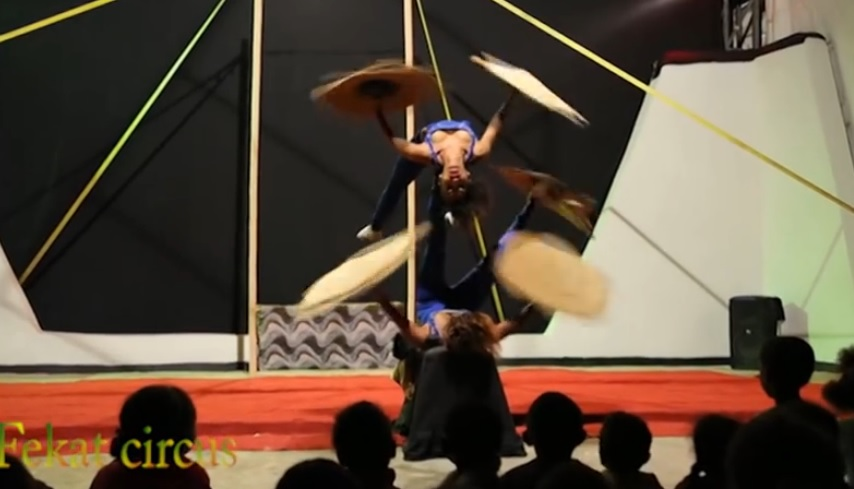 Amazing Talent - Fute Juggling act by fekat circus from Ethiopia