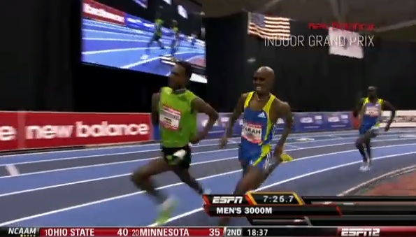 Mo Farah Misses against one shoed Dejen Gebrmeskel in 2011