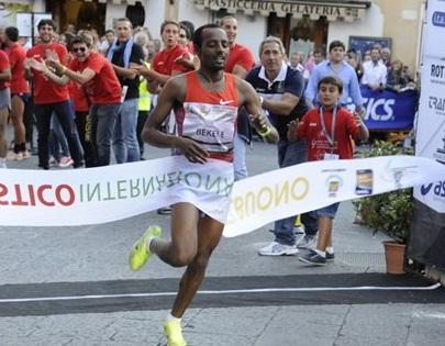 Sport Athlete Tariku Bekele Wins Castelbuono 10K