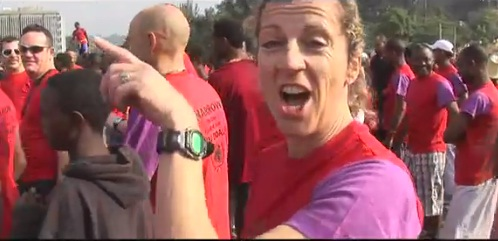 Sally Gunnell in Ethiopia with ActionAid