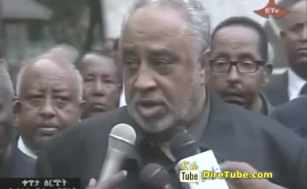 Ethiopian News - Almoudi at National Palace to pay his last respect to PM Meles