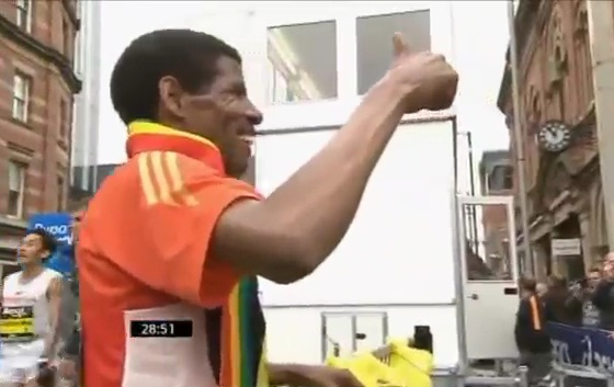 Ethiopian Haile Gebreselassie 2012 Great Manchester Run 10k with Pre and Post Race Interviews