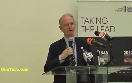 UK's Minister for Africa, Henry Bellingham has delivered a speech for the Athletes
