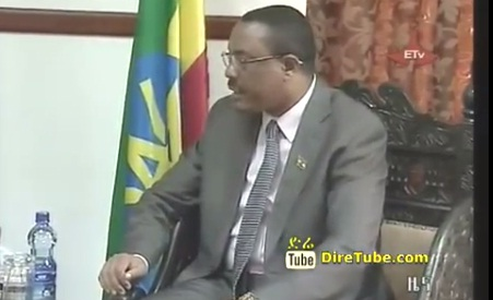 Hailemariam hold discussion with various delegations
