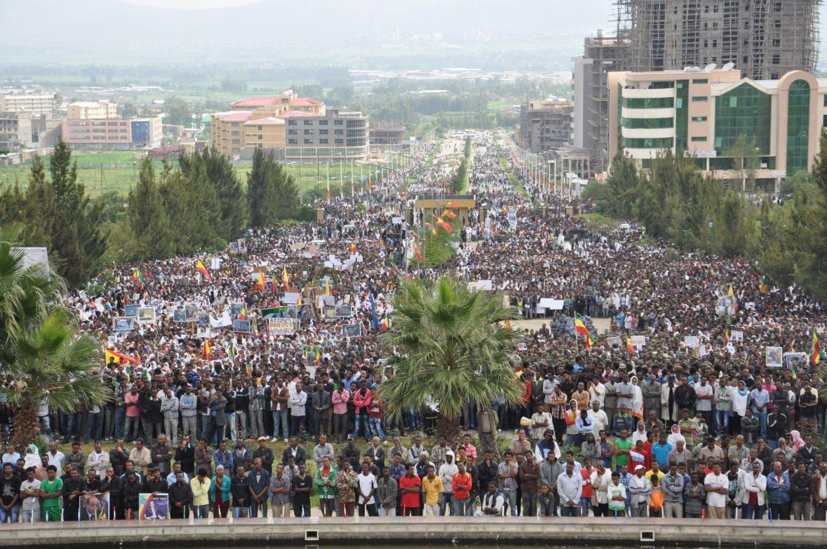 Thousands of Residence in Mekele Express Sadness in the Death Premier