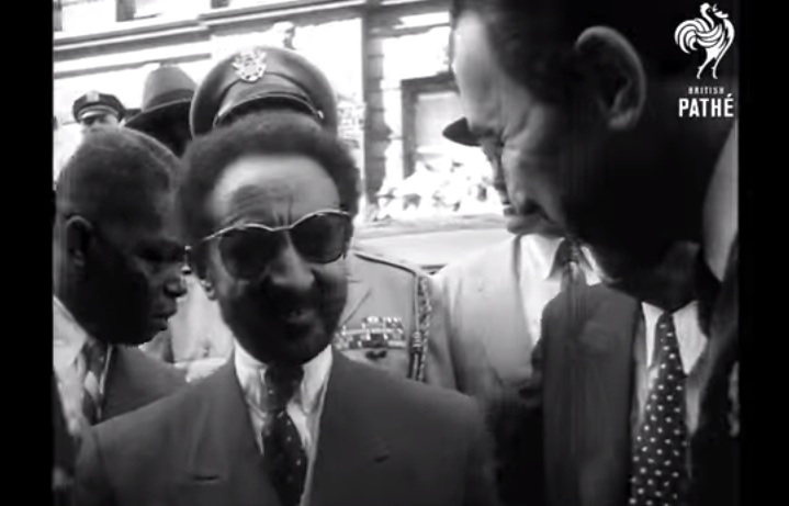 Haille Selassie Sightseeing In New York (1954)