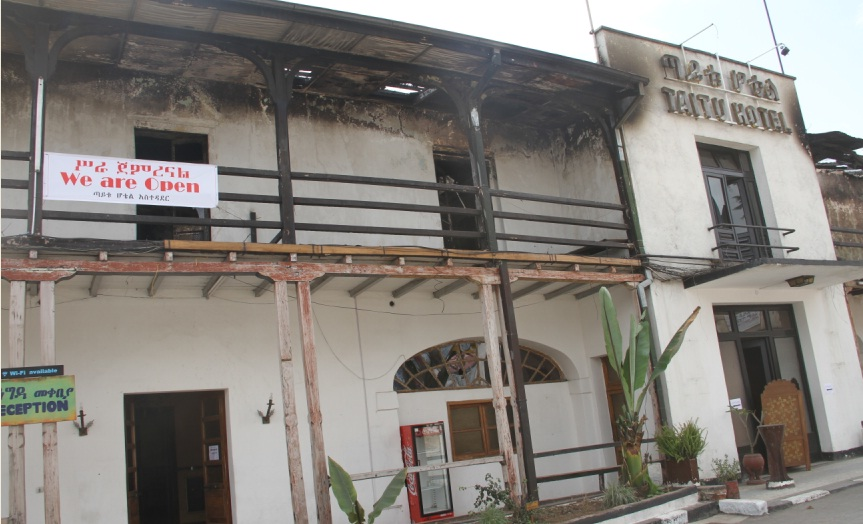 Historic Taitu Hotel Reopened after Fire Damage