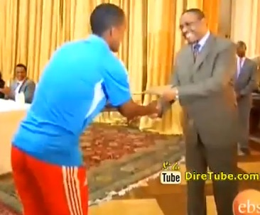 Encouragement Prize for Ethiopian National Football Team and Athletes Part - 2