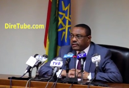 PM Hailemariam Desalegn on Egypt and the Dam at his first Press Conference