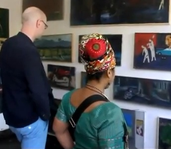 Artist Daniel Taye's Exhibition at His Studio