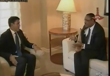 Hailemariam Desalegn Met with USAID's Rajiv Shah, Discussed on Food Security