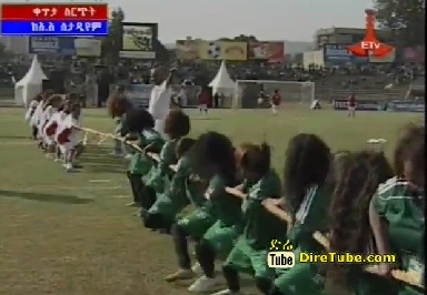 Tug of War B/n Ethiopian Female Actresses and Musicians