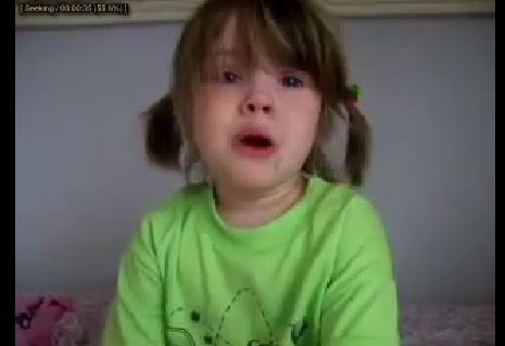 Cute Baby Girl's First Heartbreak [Must See]