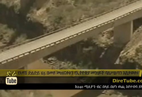The 240 Mln Br Awash Bridge 65% Completed