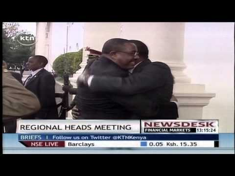President uhuru hosts the Ethiopian PM and Sudanese president for a regional meeting