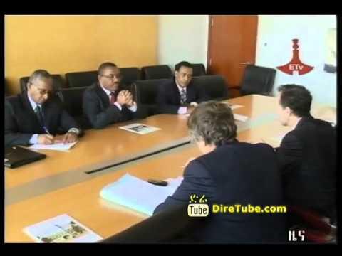 Hailemariam meet the EU Director for African Affairs Nick westcott