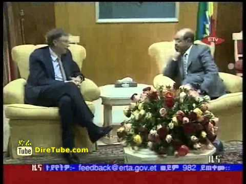 Bill Melinda Gates Foundation in Ethiopia, Mr. Gates meet PM Meles