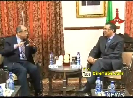 Foreign Minister Meets with Egypt Diplomatic Group
