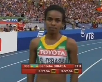 Genzebe Dibaba qualified for Final 1500 Metres
