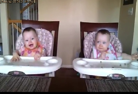 Twins Dancing to Guitar Play [Must See]