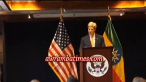 John Kerry expresses concern over arrest of Ethiopian bloggers