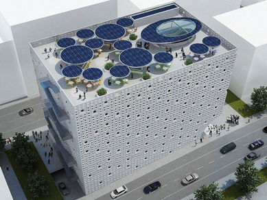 Architect inspired by Ethiopian traditional cloth pattern designed a mall in Addis