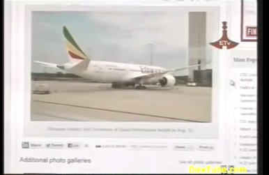 Ethiopian News - Ethiopian Boeing 787 Dreamliner first flight over Mount Kilimanjaro