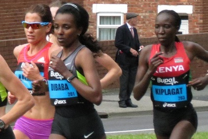 Tirunesh Dibaba wins Great North Run