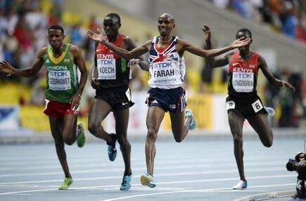 Mo Farah Wins 5000m Final - Hagos Finished Second