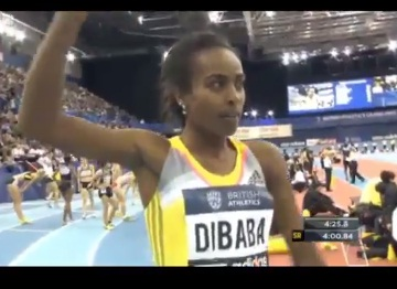 Genzebe Dibaba wins in Birmingham