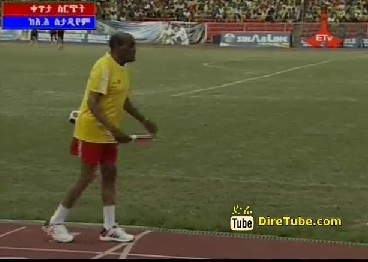 Ethiopian Male Athletes 400-Meter Relay Race