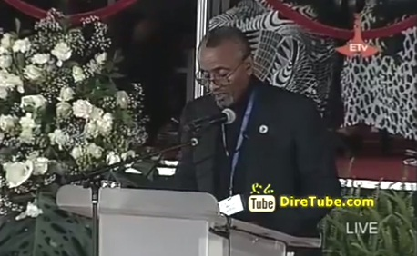 Meles Funeral - Obituary by Addisu Legesse at Meskel Square - Part 2