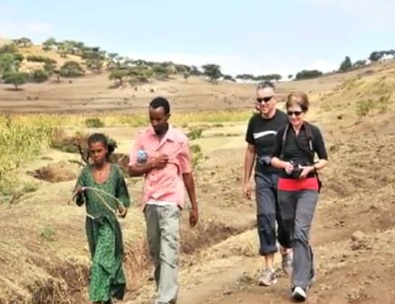 Chris Dennis and Sabina Webber who meet the young girl in Ethiopia
