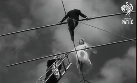 Tight Rope Wedding - Dangerous 1950s Wedding Ceremony!