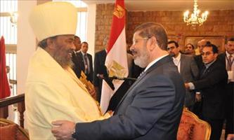 Ethiopian Orthodox Church Patriarch discusses with Egyptian President Mohammed Morsi