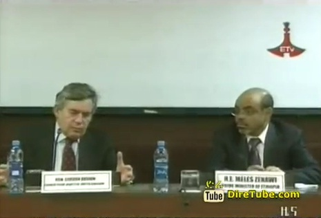 Gordon Brown Talks with PM Meles Zenawi