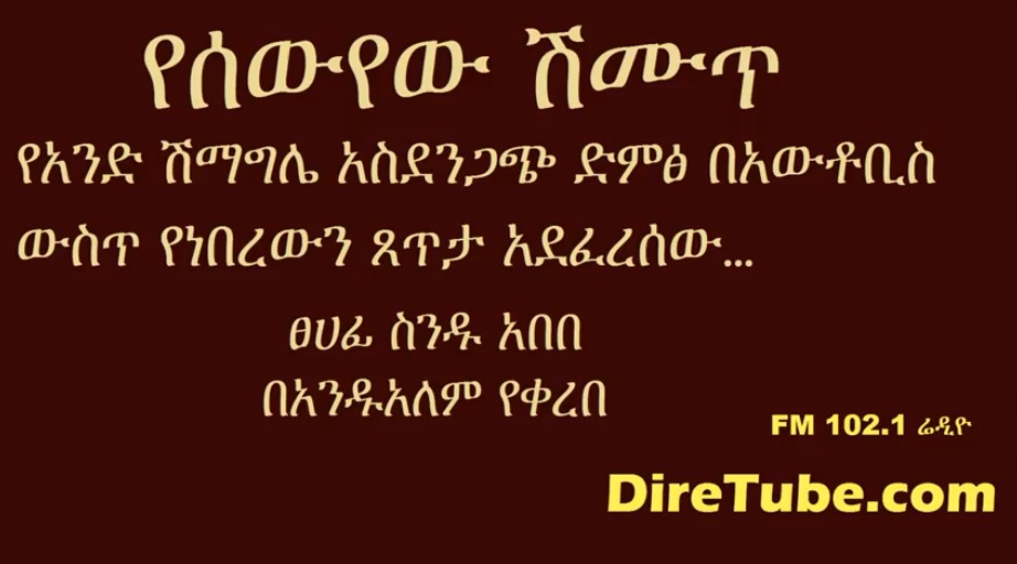 Yesewyew Shimut (የሰውየው ሽሙጥ) - Written by Sinidu Abebe
