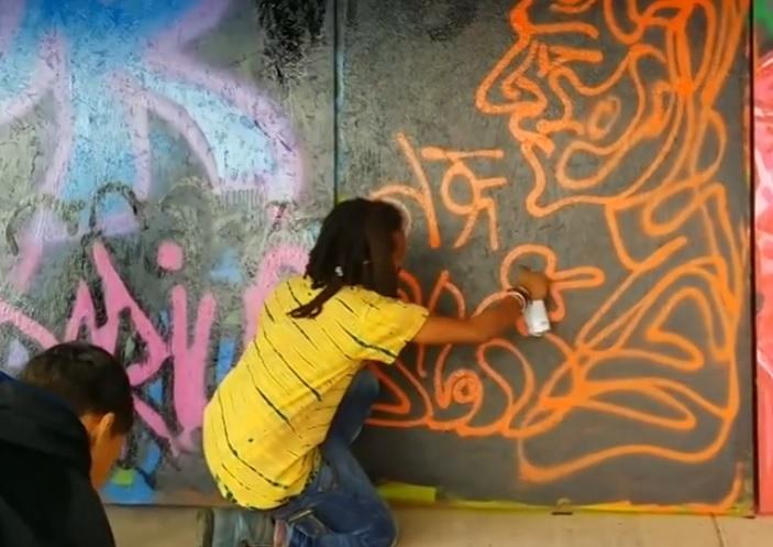 Lij Yared - Showing His Graffiti Skills