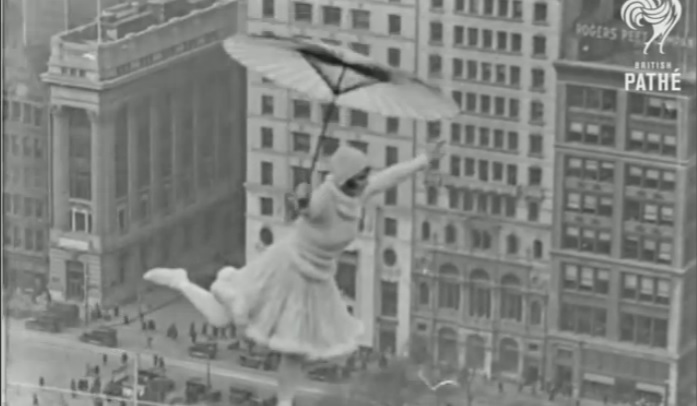 A Woman Dancing on a High Wire Suspended 300 Feet in the Air