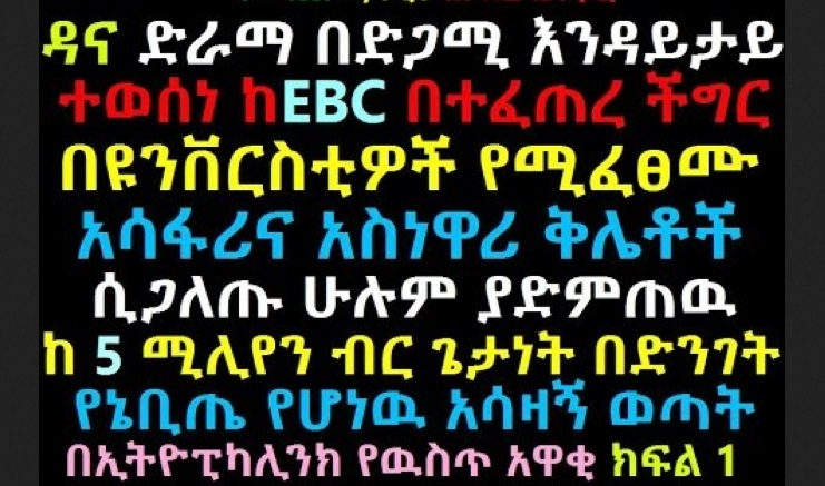 The Latest EthiopikaLink Insider News - Feb 22, 2014 - Part 1