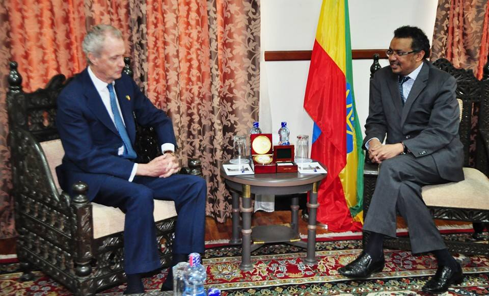 Tedros Adhanom Met Don Pedro Morenes, Defence Minister of Spain