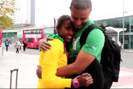 Yanet's Brother Flew from New York to Support her @ London 2012
