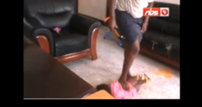 A Maid Torturing a Toddler
